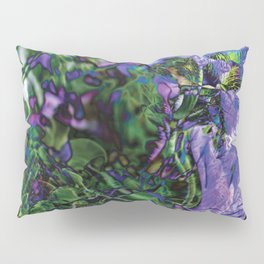 Abstracted Purple Petunias Pillow Sham