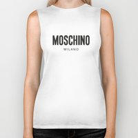 moschino Biker Tanks featuring Moschino Milano by Joannes