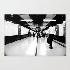 Underground [Black & White] Canvas Print