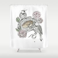 guardians Shower Curtains featuring Guardians by KC Gillies