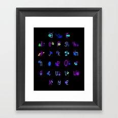 Alphabet Fruit  Framed Art Print