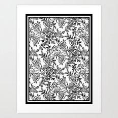 Full Moon Tea Reversed Art Print