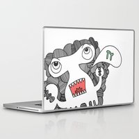 pie Laptop & iPad Skins featuring Pie! by DoodledPanda