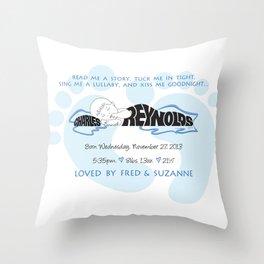 New Baby Boy Gift Name Silhouette Throw Pillow