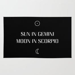 Gemini/Scorpio Sun and Moon Signs Rug