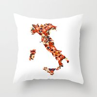 italy Throw Pillows featuring Italy by In Full Color
