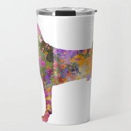 Basenji in watercolor Travel Mug