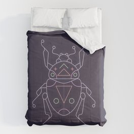 Neon beetle Comforters