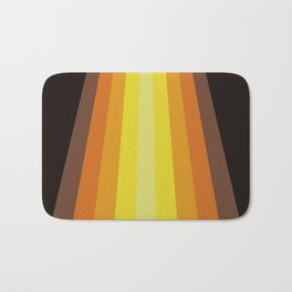 Retro Warm Tone 70's Stripes Bath Mat