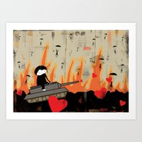 More pretty flames Art Print