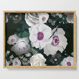 Moody Floral 3 Serving Tray