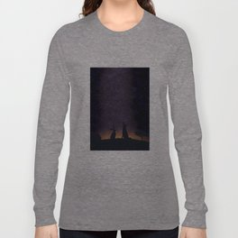 Its nice to stargaze with friends Long Sleeve T-shirt
