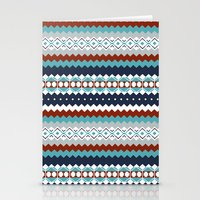 navajo Stationery Cards featuring Navajo Pattern by Sean O'Connor