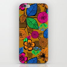 New Fashion Vector Flowers Pattern iPhone Skin