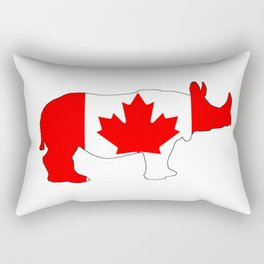 Rhinoceros Canada Rectangular Pillow