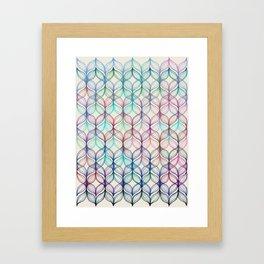 Mermaid's Braids - a colored pencil pattern Framed Art Print