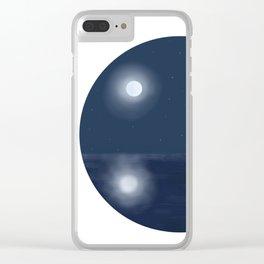 Ocean moon Clear iPhone Case