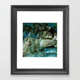 Granite Waterfall Framed Art Print