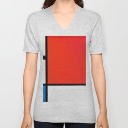 Composition With Red, Blue, And Yellow - Piet Mondrian Unisex V-Neck