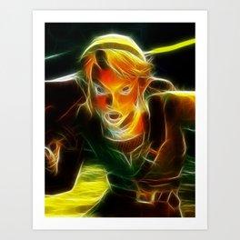 The Legend of Zelda Magical Link. Art Print