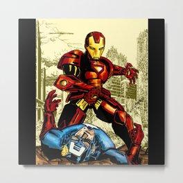 Civil War Iron Men Metal Print