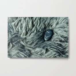 Fluffy stone heart Metal Print