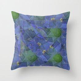 Blue Bloom Kaleidoscope Throw Pillow