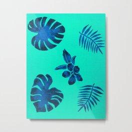 Blue Tropicals Metal Print