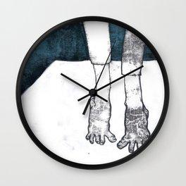 Feet on a raft Wall Clock