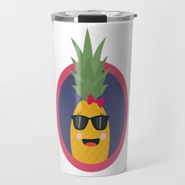 Cool pineapple with sunglasses Travel Mug