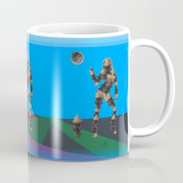 Sexy pump 1. On multicolored background. (Predominance of light blue) Coffee Mug