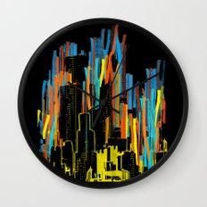 strippy city Wall Clock