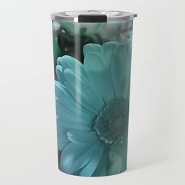 Blue And White Bouquet Travel Mug