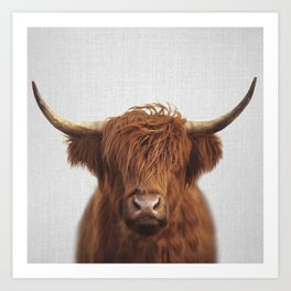 Highland Cow - Colorful Art Print