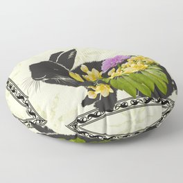 Bunny with Spring Flowers Floor Pillow