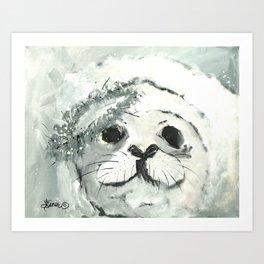 White Seal Art Print