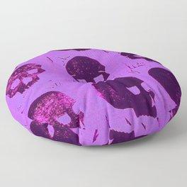 Purple skulls Floor Pillow
