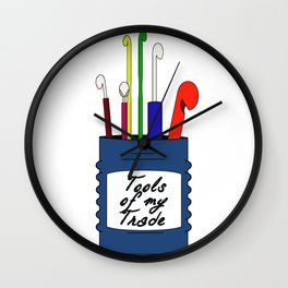 Crochet hooks Wall Clock