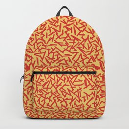 JUST A BUNCH OF LINES - ORANGE Backpack