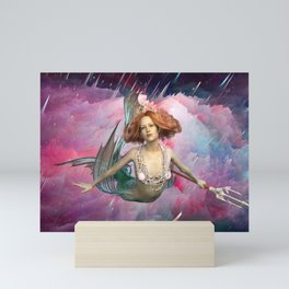 Intergalactic Space Sirens the Universal Flying Mermaids of Our Dreams Mini Art Print