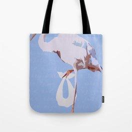 Baby Mine - tangerine/cerulean Tote Bag