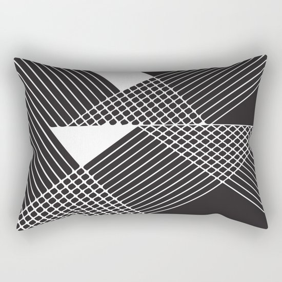 Night Stripes Rectangular Pillow