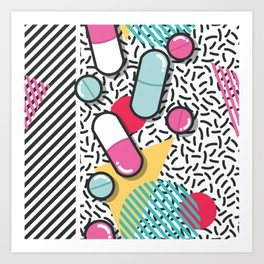 Pills pattern 018 Art Print