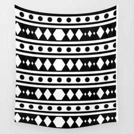 White tribal pattern Wall Tapestry