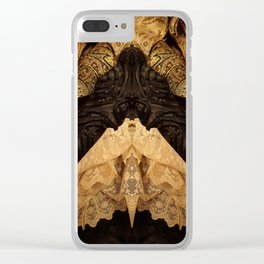 112 The Gothic Moth Clear iPhone Case