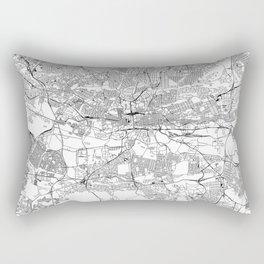 Johannesburg White Map Rectangular Pillow