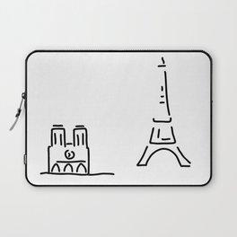 Paris eiffelturm notre dame Laptop Sleeve