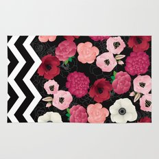 Chevron Flowers Rug