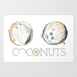 Coconuts Art Print