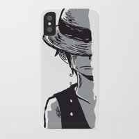 luffy iPhone & iPod Cases featuring Sad Luffy by cici22